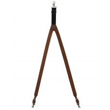 3D Western Suspenders Mens Galluse Basketweave Leather Tan S509