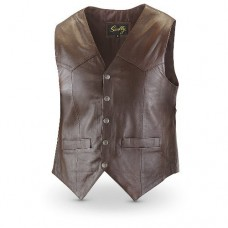 Scully Men's Lambskin Snap Front Vest 507