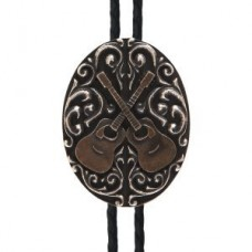 And West Buckles Crossed Guitar Bolo - BOL140
