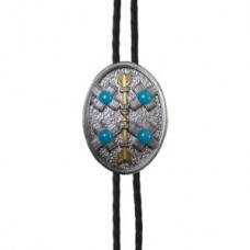 And West Cross and Arrow with Turquoise Bolo BOL151