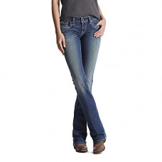 Ariat Ladies R.E.a.L Mid Rise Stretch Entwined Boot Cut Jeans 10017510