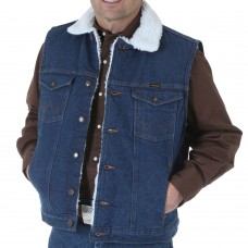 Wrangler Sherpa Lined Denim Vest 74131PW