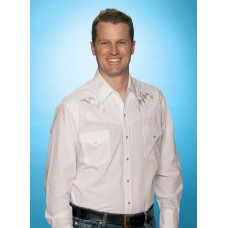 Ely & Walker Mens Rose White Western Shirt L/S Poly/Cotton 15203901_05R