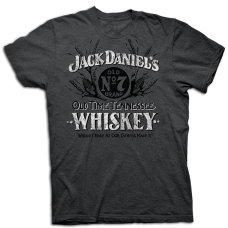 Ely & Walker Jack D Grey Old Time Tennesee Whiskey T Shirt 15261487JD-89
