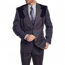 Circle S Men's Black Grey Boise Sport Coat CC2976