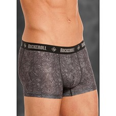 "Rock & Roll Cowboy Mens Grey Paisley 3"" Boxer Briefs U3-8955"