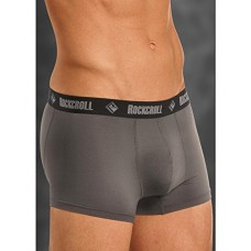 "Rock & Roll Cowboy Mens Charcoal 3"" Boxer Briefs U3-8956"