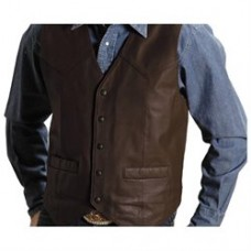 Roper Western Vest Mens Leather Chocolate 02-075-0510-0502 BR