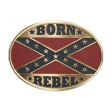 And West Bronze Oval Rebel Flag 508