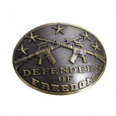 "And West Antique Brass ""Defenders of Freedom"" Belt Buckle 620-06"