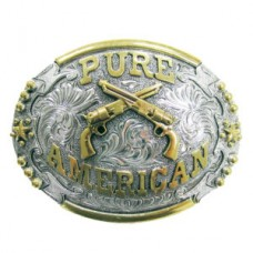 "And West Two-Tone ""Pure American"" Belt Buckle 713"