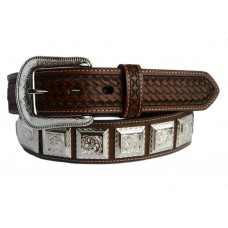 "3D 1 1/2"" Brown Men's Western Fashion Belt Item 1071"