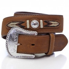 3D Belt Company 6822 Brown Men's Western Fashion Belt