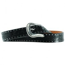 Ariat Western Womens Belt Leather Work Embossed Black A10004672