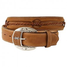 Justin Men's Western Belt Barbed Wire Fenced In [C10817]