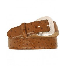 Tony Lama Ostrich Print Leather Belt - 63330
