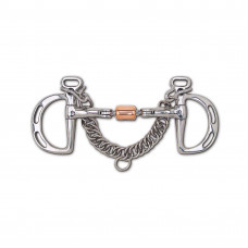 Toklat 3-Piece Snaffle with Copper Roller Uxeter Kimberwick 88-25055