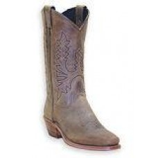 Abilene Womens Olive Brown Western Cowhide Boots 9011
