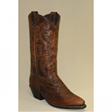 Abilene Womens Brown Western With Tooled Inserts 9141