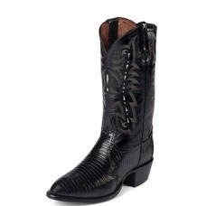 Tony Lama Men's FELTON EXOTIC WESTERN BLACK TEJU LIZARD #CZ810