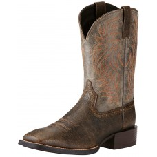 "Ariat Men's Sport Western 11"" Square Toe Boots- Brooklyn Brown 10019958"