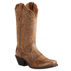 Ariat® Ladies Round Up Square Toe Vintage Bomber Brown Boots 10021620