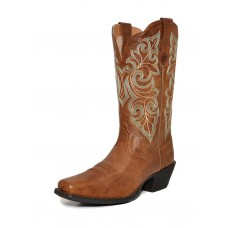 Ariat Womens Round Up Square Toe Wood Cowgirl Boot 10023155