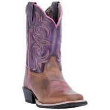 Dan Post Childrens Leather Buckeye Btown Purple Sanded DPC2947
