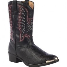 Durango Childrens Black Lizard Print Western Boots BT840