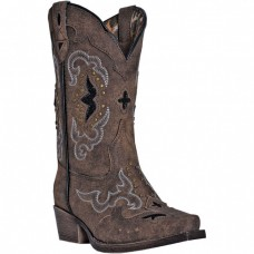 Laredo Kid's Rulay Western Boots - Brown LC2232