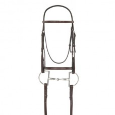 Camelot™ Raised Fancy Stitch Snaffle Bridle 407351