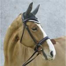 Equine Couture™ Fly Bonnet with Piping and Crystals 17-18/2965