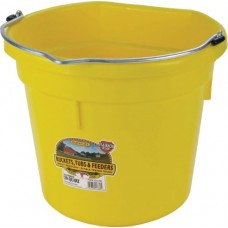 Little Giant Plastic Flat Back Bucket Yellow 20 Quart