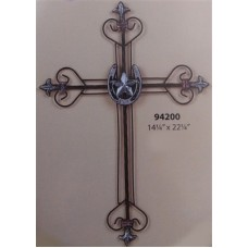 Western Moments 94200 Wire Wall Cross With Horseshsoe & Star Center