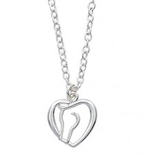 Cowgirl Glam Horses Heart Necklace J907N