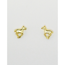Finishing Touch of Kentucky Gold Running Foal Earrings HER1003