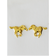 Finishing Touch of Kentucky Gold Running Mustang Horse Earrings HER1008