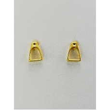 Finishing Touch of Kentucky Gold Stirrup Earrings HER1026
