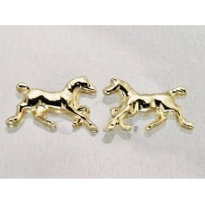 Finishing Touch of Kentucky Gold Trotting Filly Horse Earrings HER1031