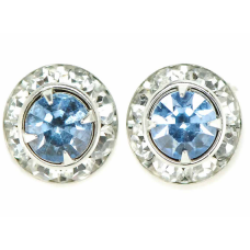 Finishing Touch of Kentucky Rhondell Lt. Sapphire W/Crystal Stones Show Earrings HER8349