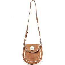 Blazin Roxx Women's Small Biker Rhinestone Shoulder Bag Brown N7536202