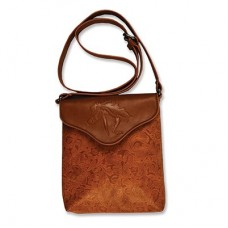 Cross Body Purse with Embossed Galloping Horse Brown LP420BR
