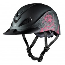 04-275s Troxel Rebel RIding Helmet - Turquoise Rose