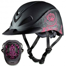 04-276s Troxel Rebel Riding Helmet - Pink Rose