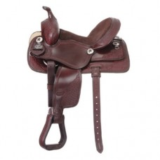 Tough-1 Trail/All-Around Saddle Dark Oil - KS1006-32-16