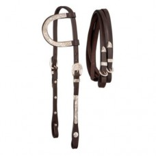 Royal King Single Ear Silver Headstall 18-32