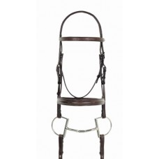 Camelot Fancy Stitched Round Wide Padded Monocrown Bridle with Reins 469938