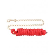 Tough 1 JT Poly Lead Rope With Chain Red 51-2214-5-0