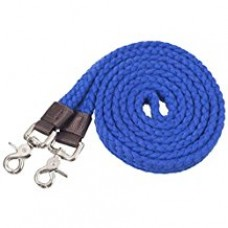 Tough-1 Pro Cotton Roping Rein Royal Blue 549054