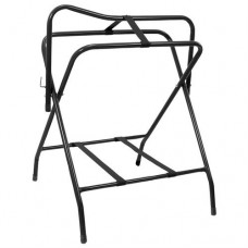Tough-1 Folding Floor Saddle Rack w/Web Bottom Black 88-47103-2-0